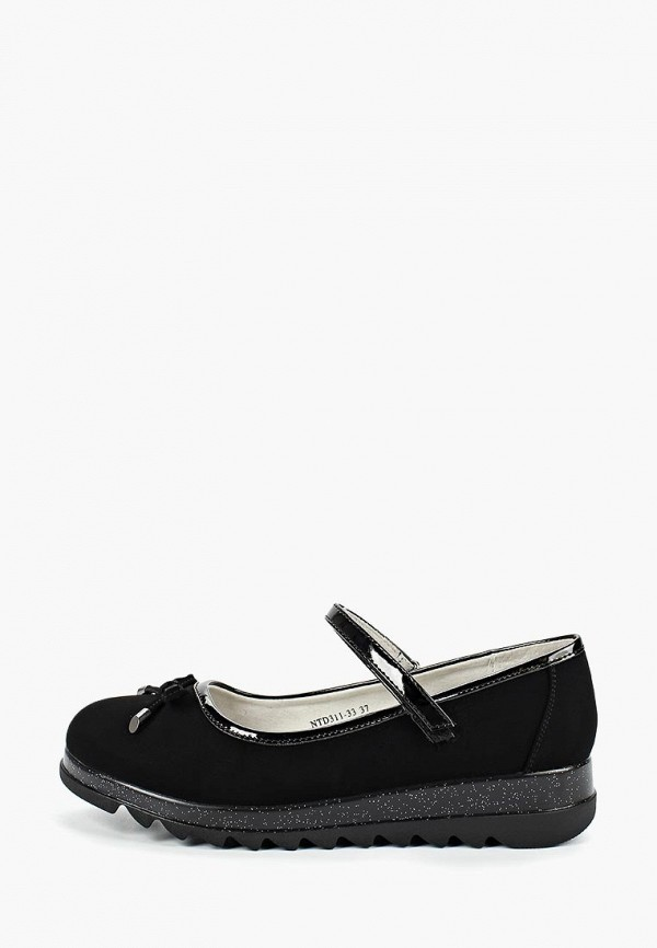 туфли shuzzi для девочки, черные