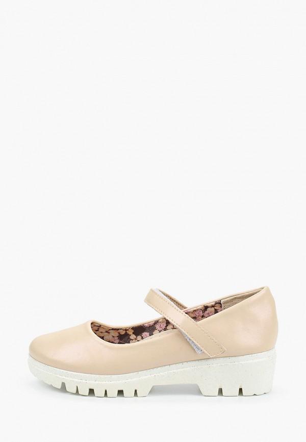 туфли shuzzi для девочки, бежевые