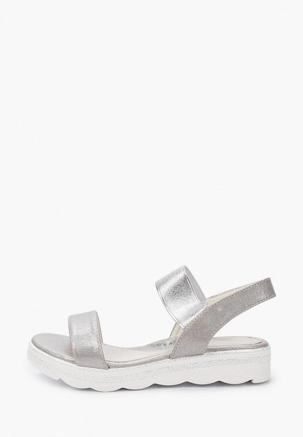 сандалии shuzzi для девочки, серебряные