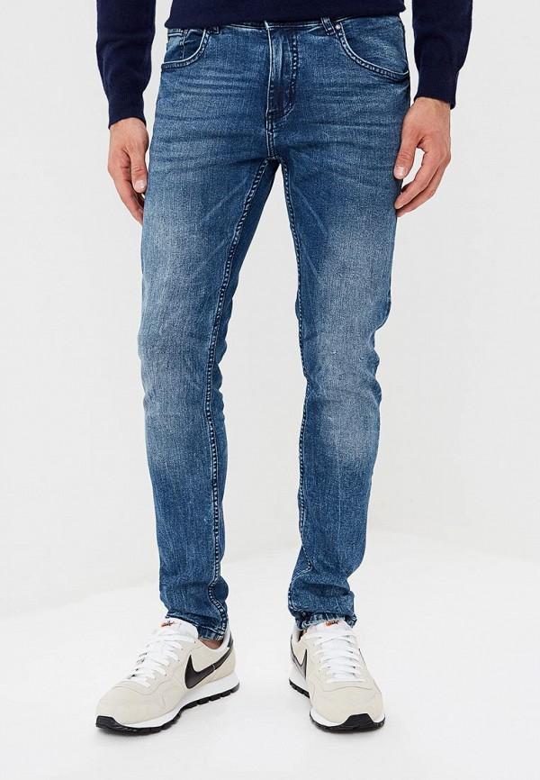 мужские зауженные джинсы shine original, синие