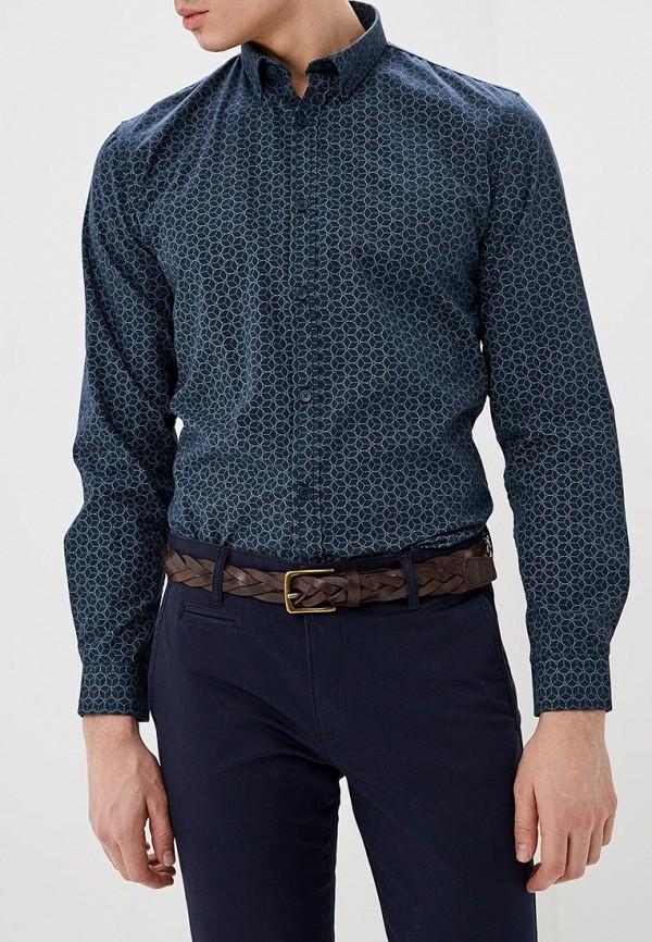 мужская рубашка с длинным рукавом shine original, синяя
