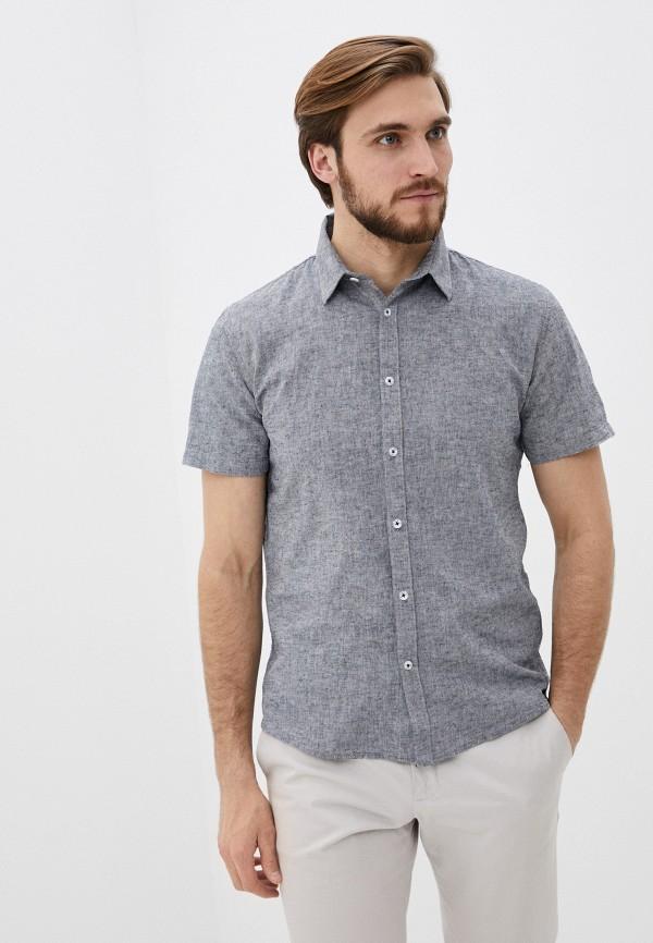 мужская рубашка с коротким рукавом shine original, серая