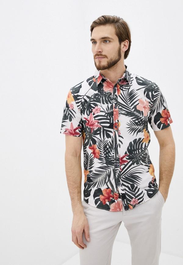 мужская рубашка с коротким рукавом shine original, белая