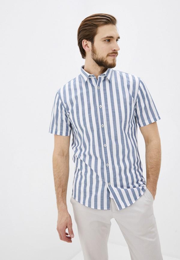 мужская рубашка с коротким рукавом shine original, голубая