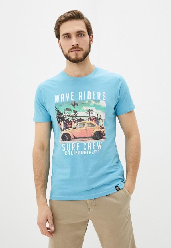 мужская футболка с коротким рукавом shine original, голубая