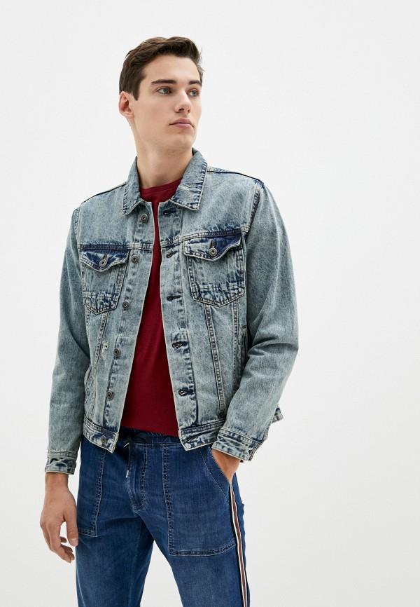 мужская джинсовые куртка shine original, синяя