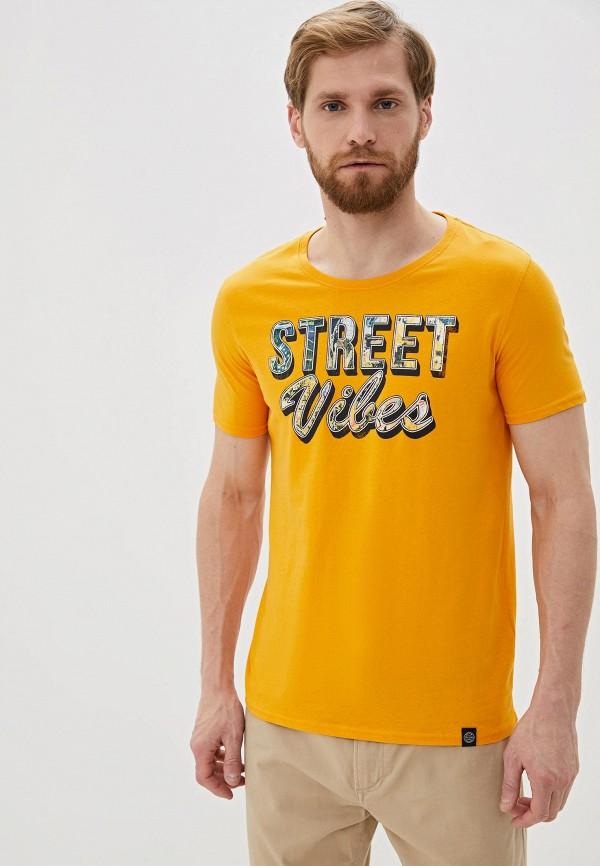 мужская футболка с коротким рукавом shine original, желтая
