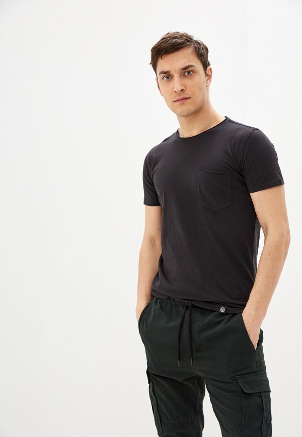 мужская футболка с коротким рукавом shine original, черная