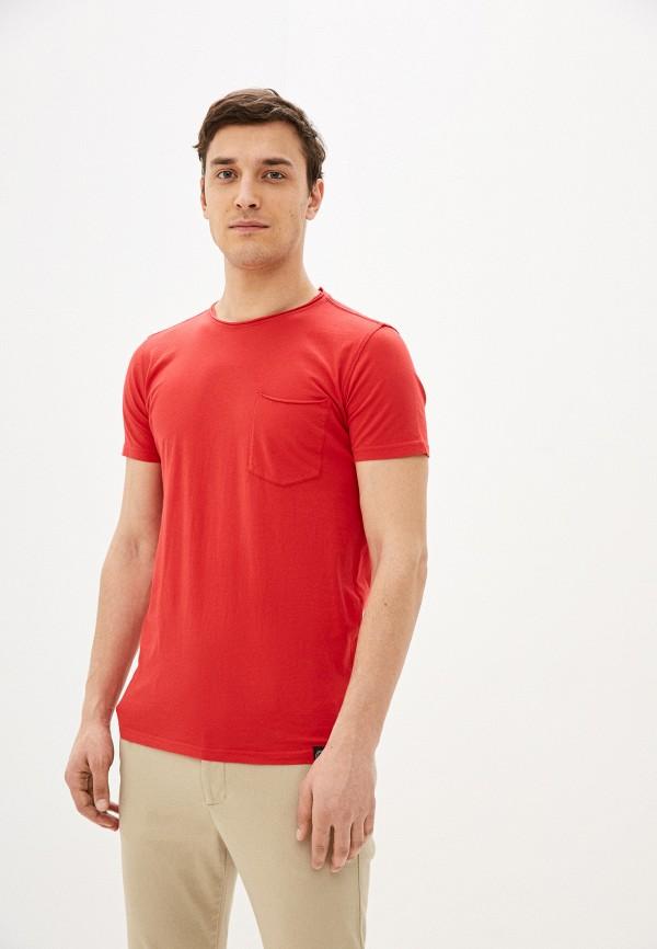 мужская футболка с коротким рукавом shine original, красная