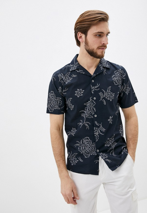 мужская рубашка с коротким рукавом shine original, синяя