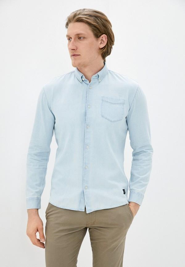 мужская рубашка с длинным рукавом shine original, голубая