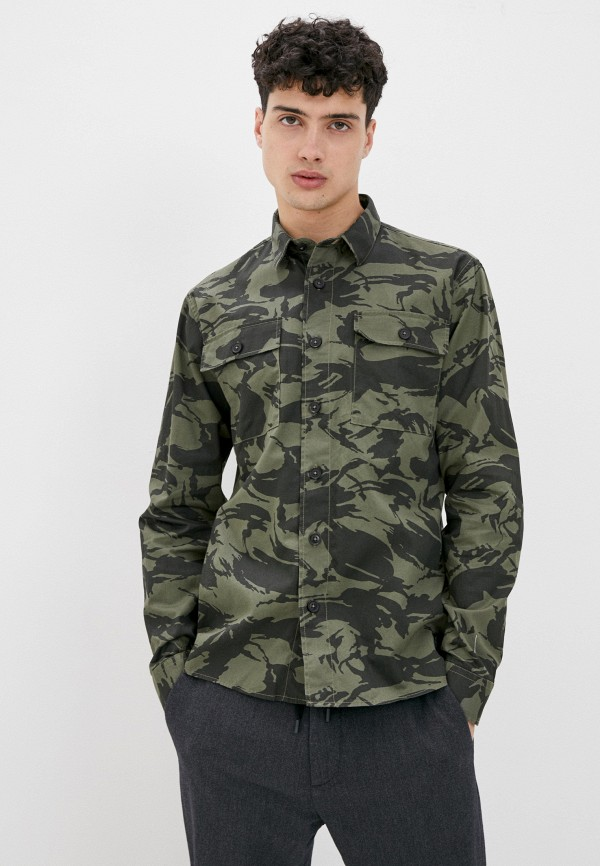 мужская рубашка с длинным рукавом shine original, хаки
