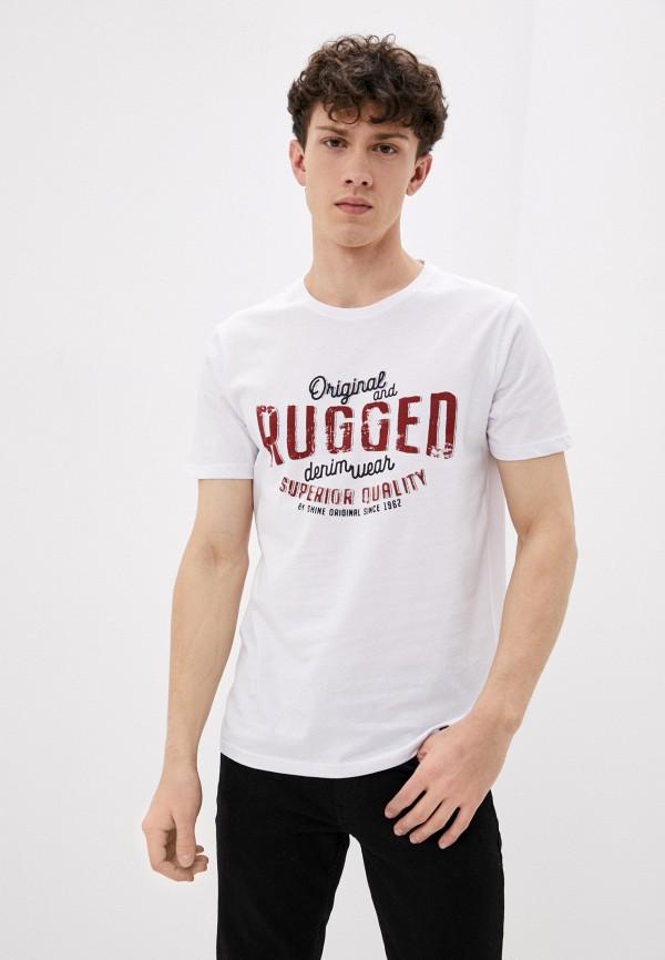 мужская футболка с коротким рукавом shine original, белая