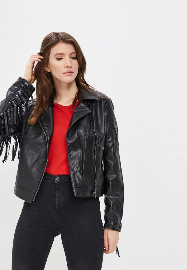 Купить Куртка кожаная SH, SH021EWAPAW5, черный, Весна-лето 2018