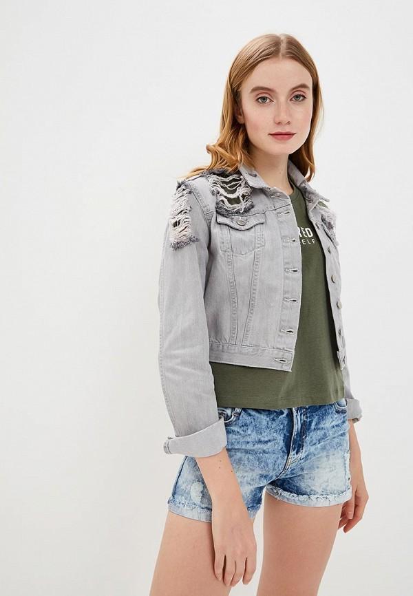 женская джинсовые куртка sh, серая