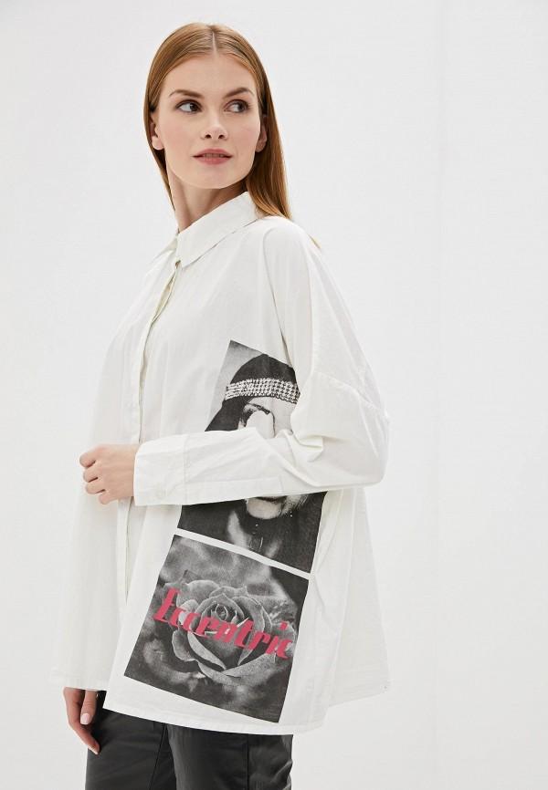 женская рубашка с длинным рукавом sh, белая