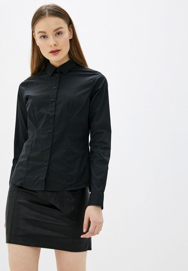 женская рубашка с длинным рукавом sh, черная