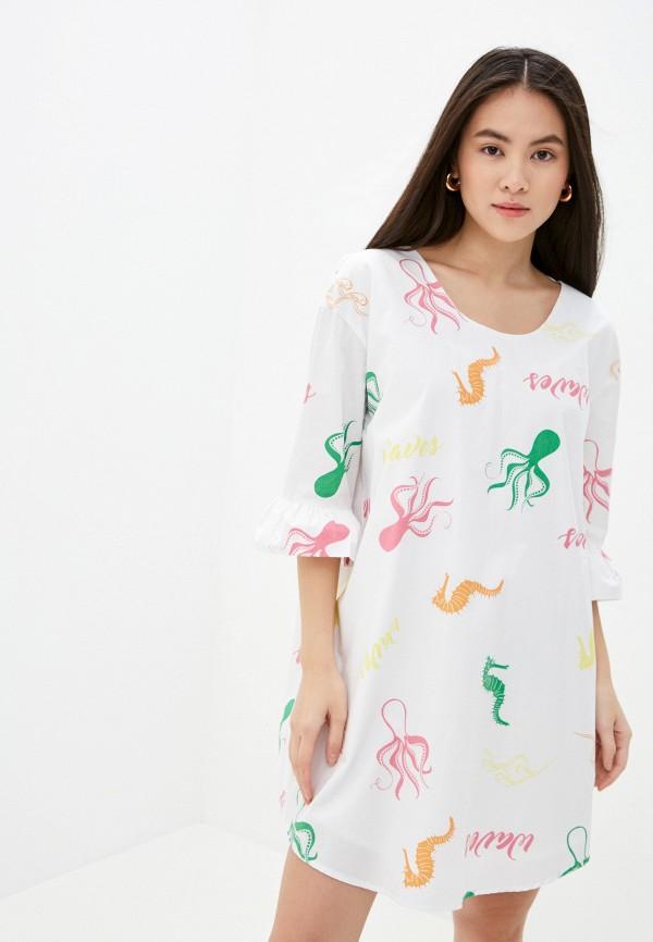 женское повседневные платье sh, белое