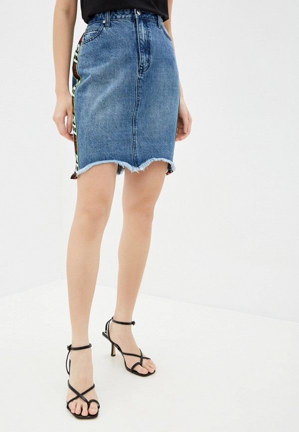 женская джинсовые юбка sh, синяя