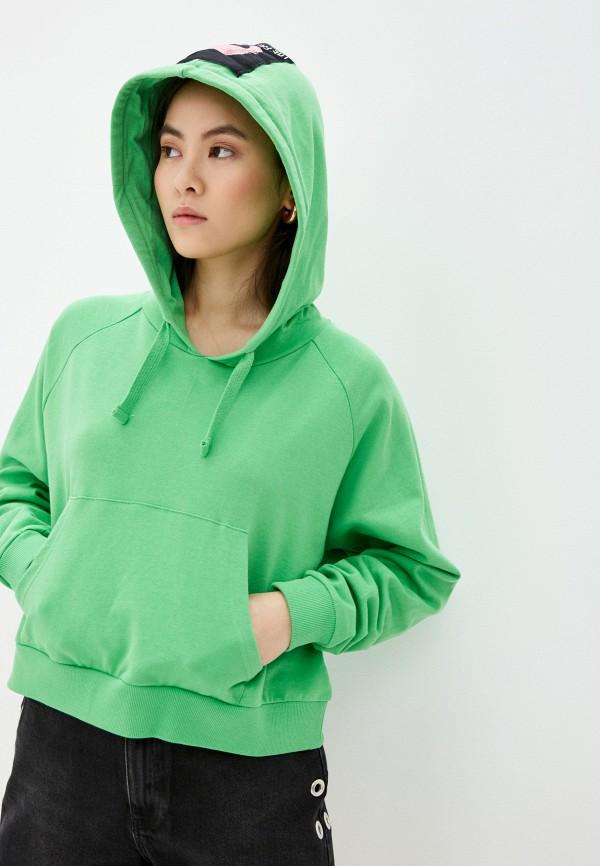 женские худи sh, зеленые