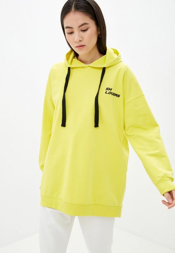 женские худи sh, желтые