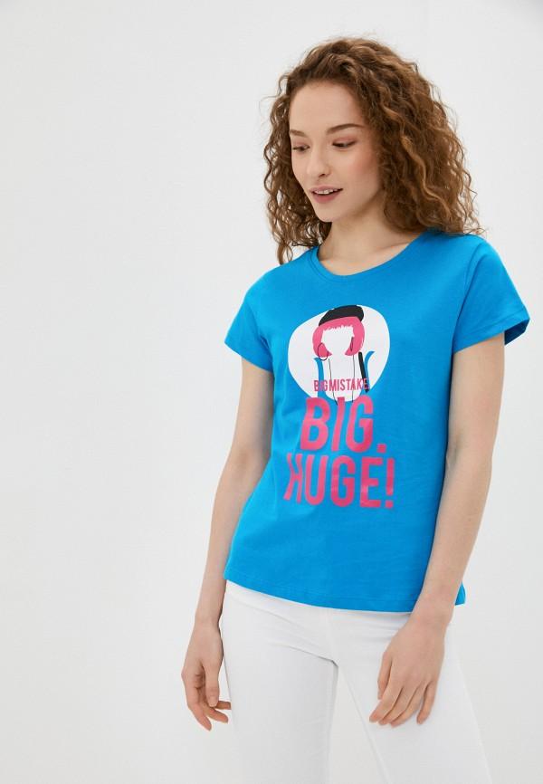 женская футболка sh, голубая