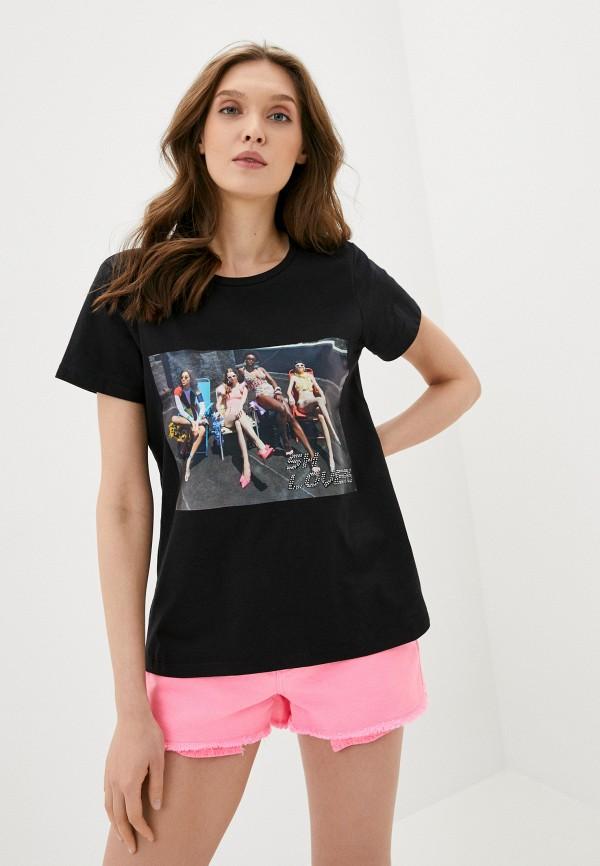 женская футболка sh, черная