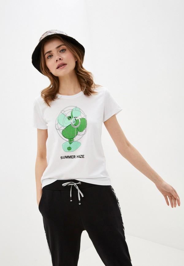 женская футболка sh, белая