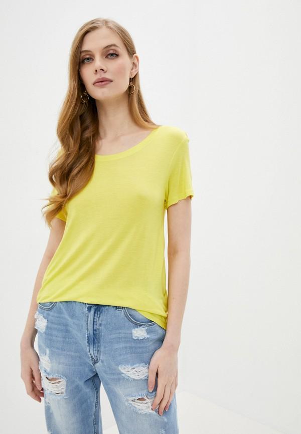 женская футболка sh, желтая