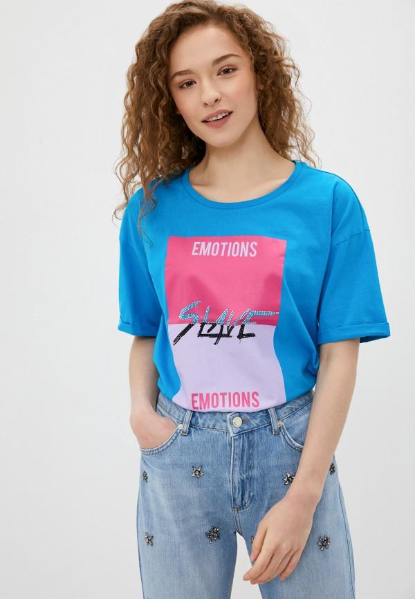 женская футболка sh, синяя