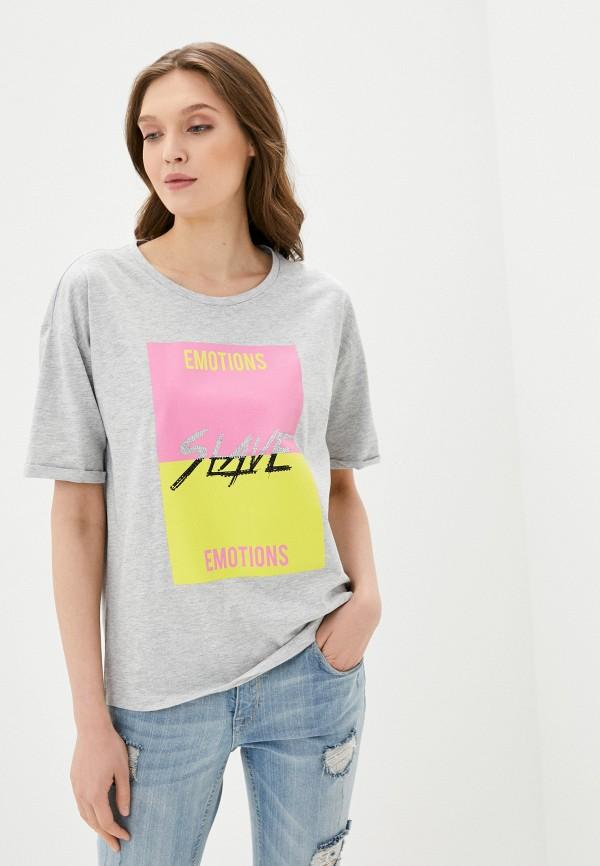 женская футболка sh, серая