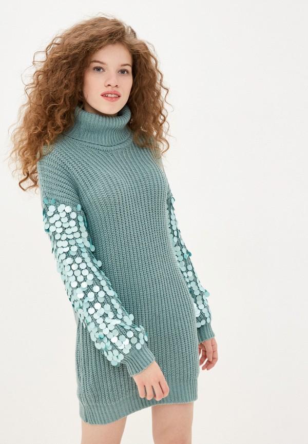 женское платье sh, бирюзовое