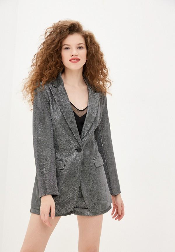 женский пиджак sh, серебряный