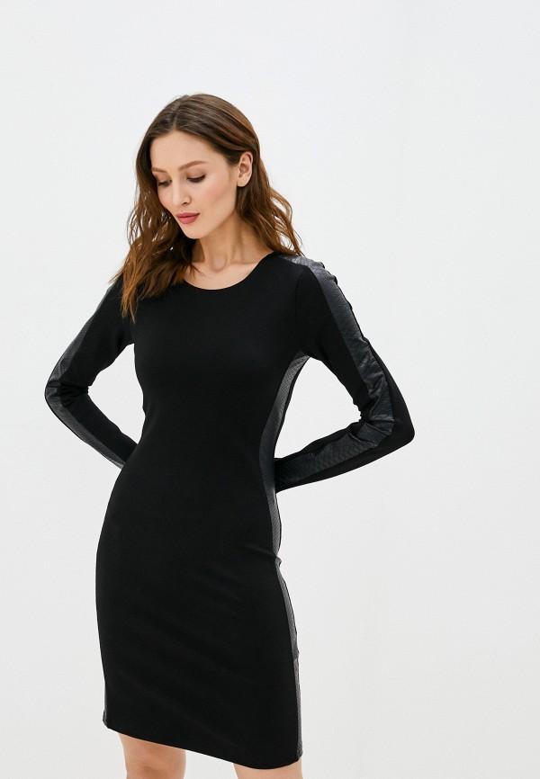 женское платье-футляр sh, черное