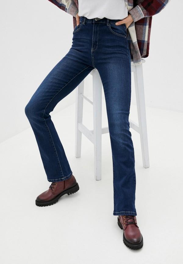 женские джинсы клеш sh, синие