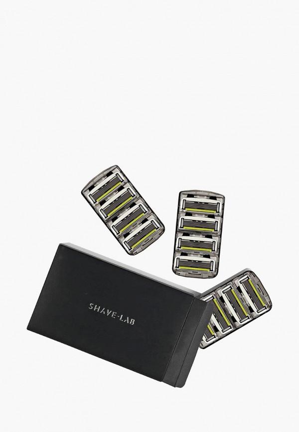 Купить Сменные кассеты для бритья Shave Lab, P.6 FOR MEN 6 лезвий, набор сменных кассет- 12 шт., sh023lmdixw0, прозрачный, Весна-лето 2019