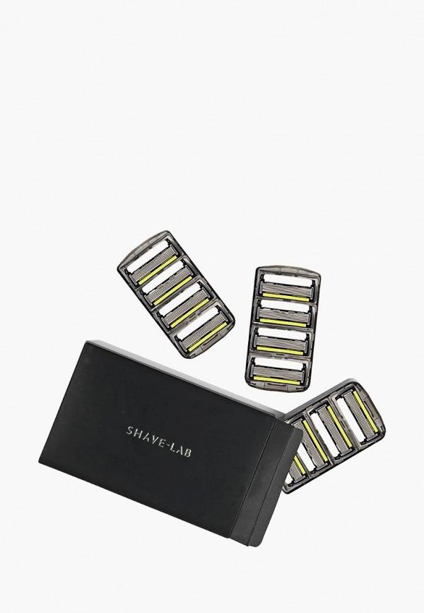 Купить Сменные кассеты для бритья Shave Lab, P.6+1 FOR MEN 6 лезвий+триммер, набор сменных кассет- 12 шт., sh023lmdixw1, прозрачный, Весна-лето 2019