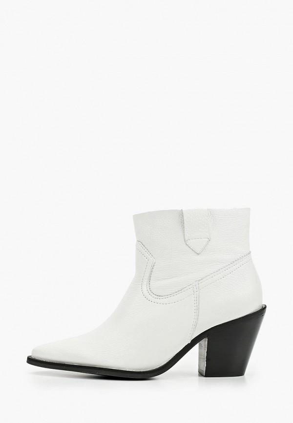 женские полусапожки shoe biz, белые