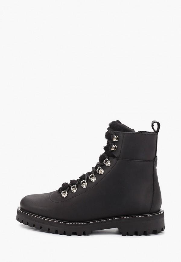 женские высокие ботинки shoe biz, черные