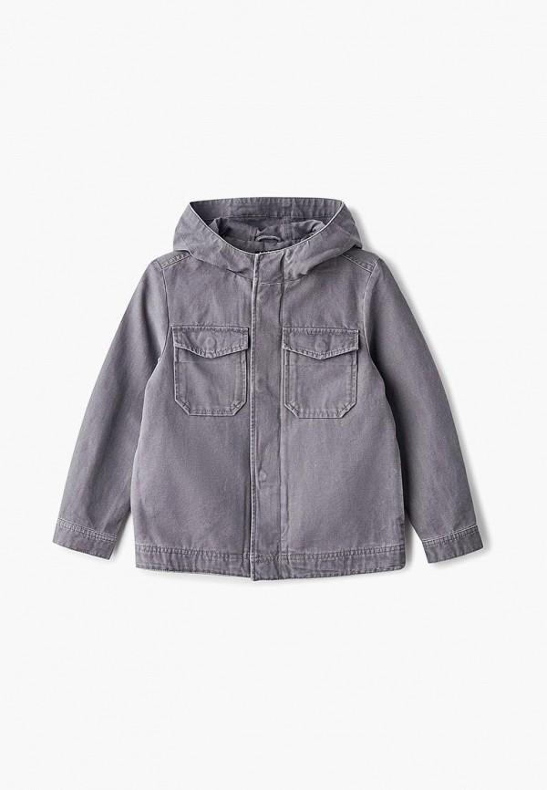 куртка sisley для мальчика, серая