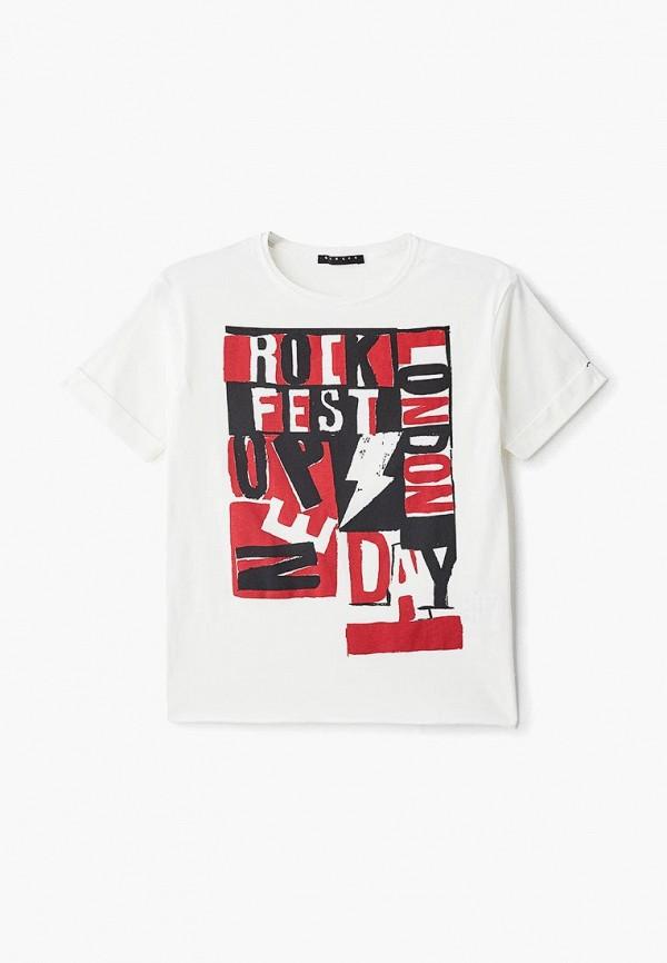 футболка с коротким рукавом sisley для мальчика, белая