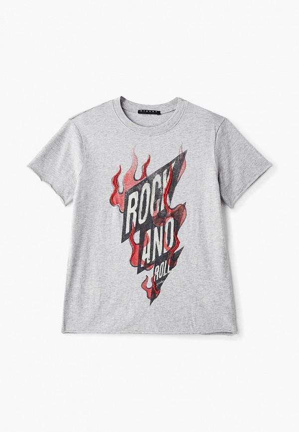 футболка с коротким рукавом sisley для мальчика, серая