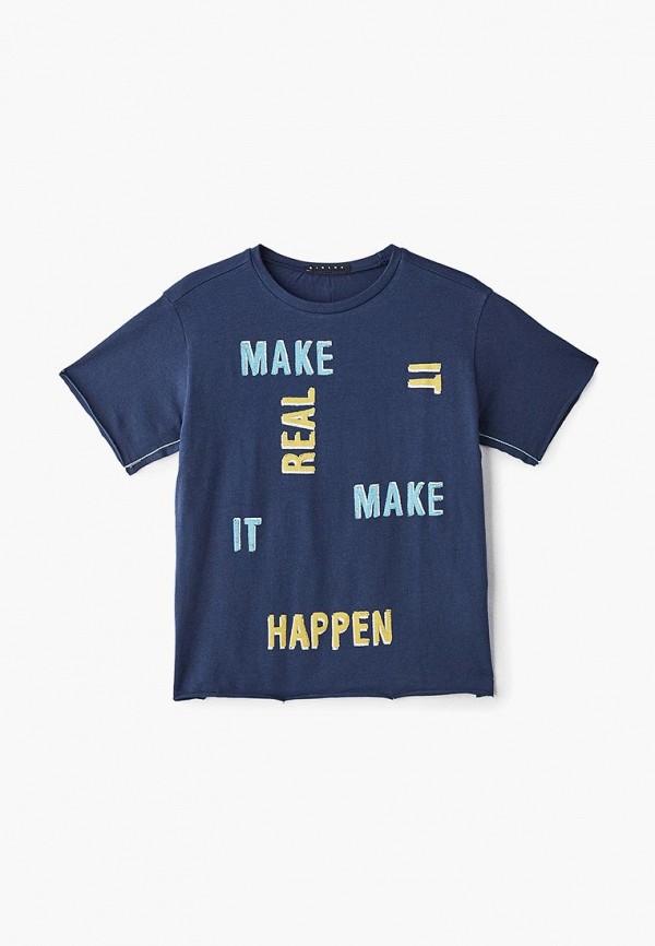 футболка с коротким рукавом sisley для мальчика, синяя