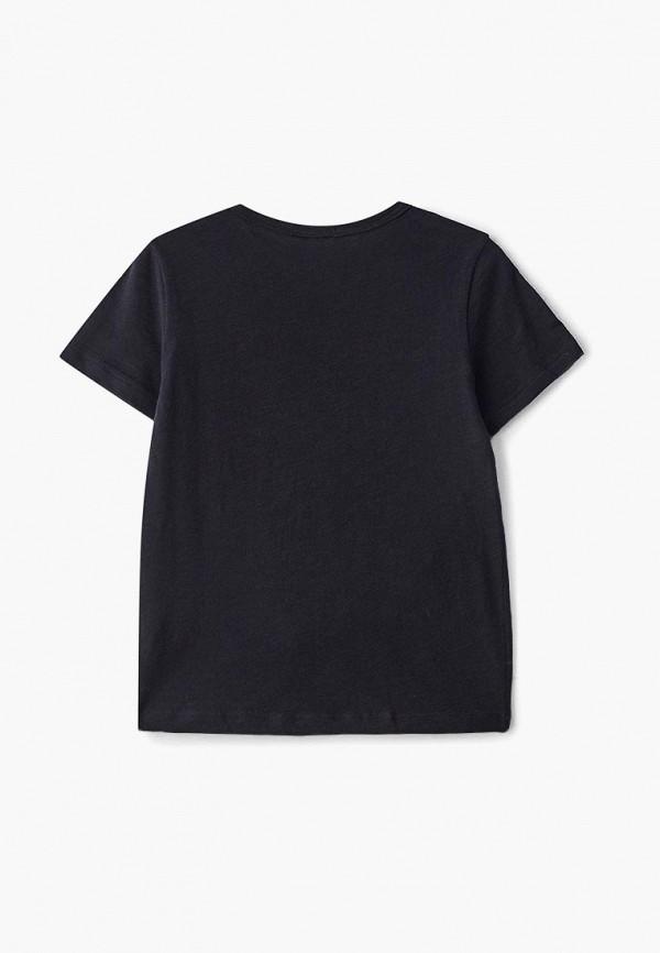 Фото 2 - Футболку Sisley черного цвета