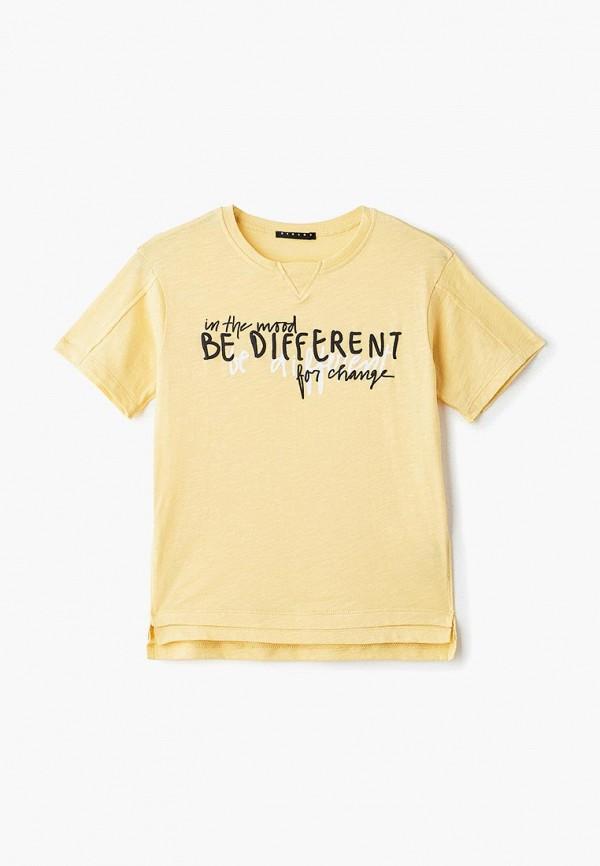 футболка с коротким рукавом sisley для мальчика, желтая