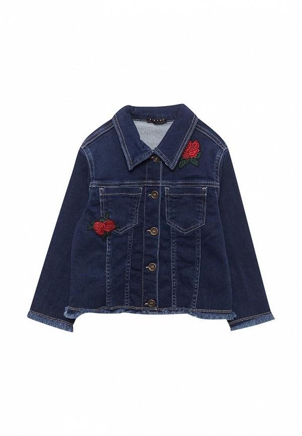 джинсовые куртка sisley для девочки, синяя