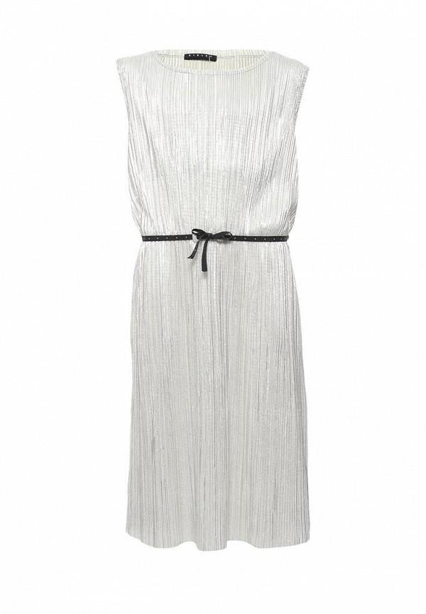 Платье Sisley, SI007EGACFS8, серебряный, Весна-лето 2018  - купить со скидкой