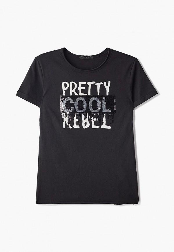 футболка с коротким рукавом sisley для девочки, черная