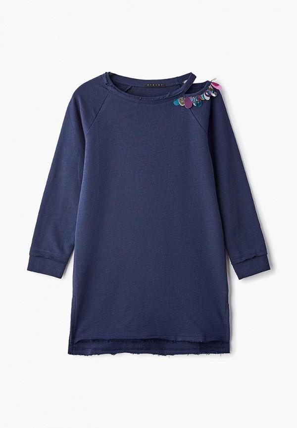 повседневные платье sisley для девочки, синее