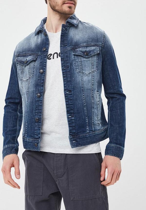 Купить Куртка джинсовая Sisley, SI007EMAFCQ1, синий, Весна-лето 2018